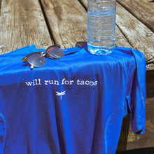 """Will Run For Tacos"" Men's Athletic Tee"