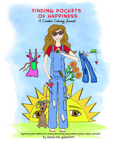 Finding Pocket of Happiness, A Creative Coloring Jounal
