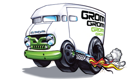 FREE GROM Apparel Stickers...