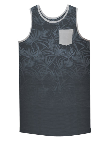 PALM FADE POCKET TANK KNIT