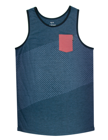 SURF CHECK POCKET TANK KNIT