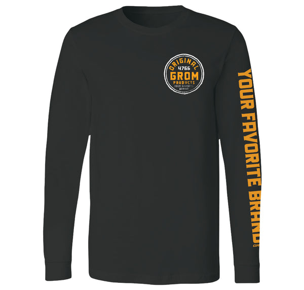 ORIGINAL GROM LONG SLEEVE TEE ( SMALL FRONT PRINT/LARGE BACK PRINT)