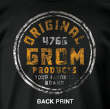 ORIGINAL GROM TEE (SMALL FRONT PRINT/LARGE BACK PRINT)