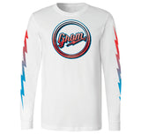 SCRIPT FADE LONG SLEEVE TEE
