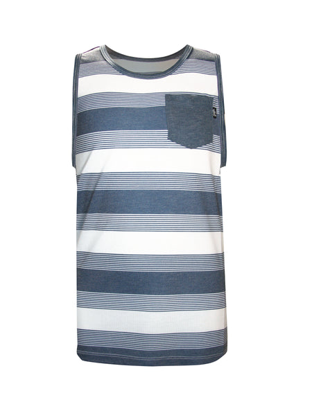 CLASSIC STRIPE POCKET KNIT TANK