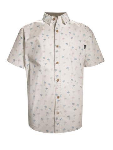 TROPIC PALM STRETCH BUTTON UP