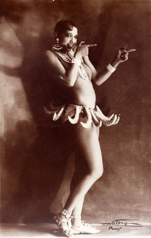 "Josephine Baker's ""Banana Dance,"" well received in Europe but panned in the United States."