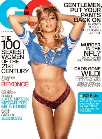 On the February 2013 cover of GQ, a year after the birth of daughter Blue Ivy.