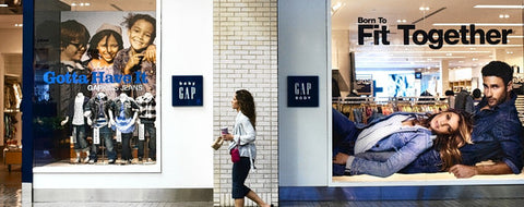 """Gap Body Window Display - cause men and women are """"born to fit together"""""""