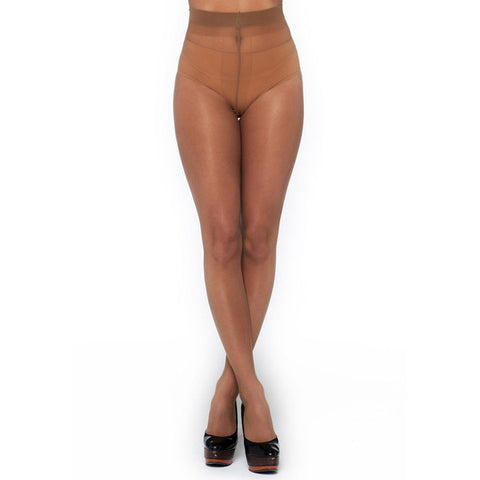 Matt 10 Denier Tights - Cafe au Lait - Bluestockings Boutique