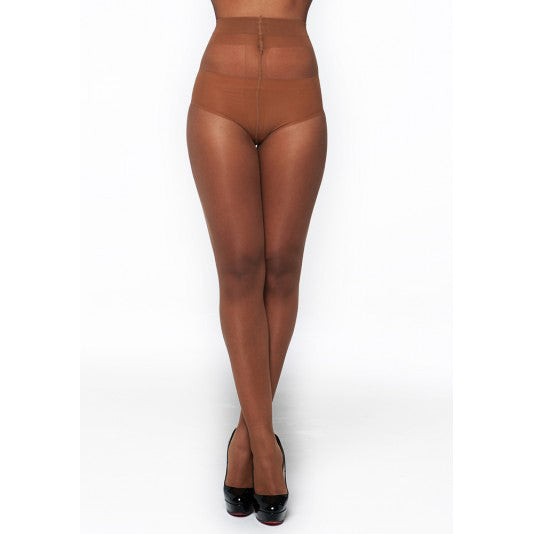 Matt 10 Denier Tights - Caramel - Bluestockings Boutique  - 2