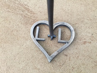 Custom Hollow Heart with 2 initials