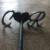 "Branding Iron: ""Heart"" with 2 letters"