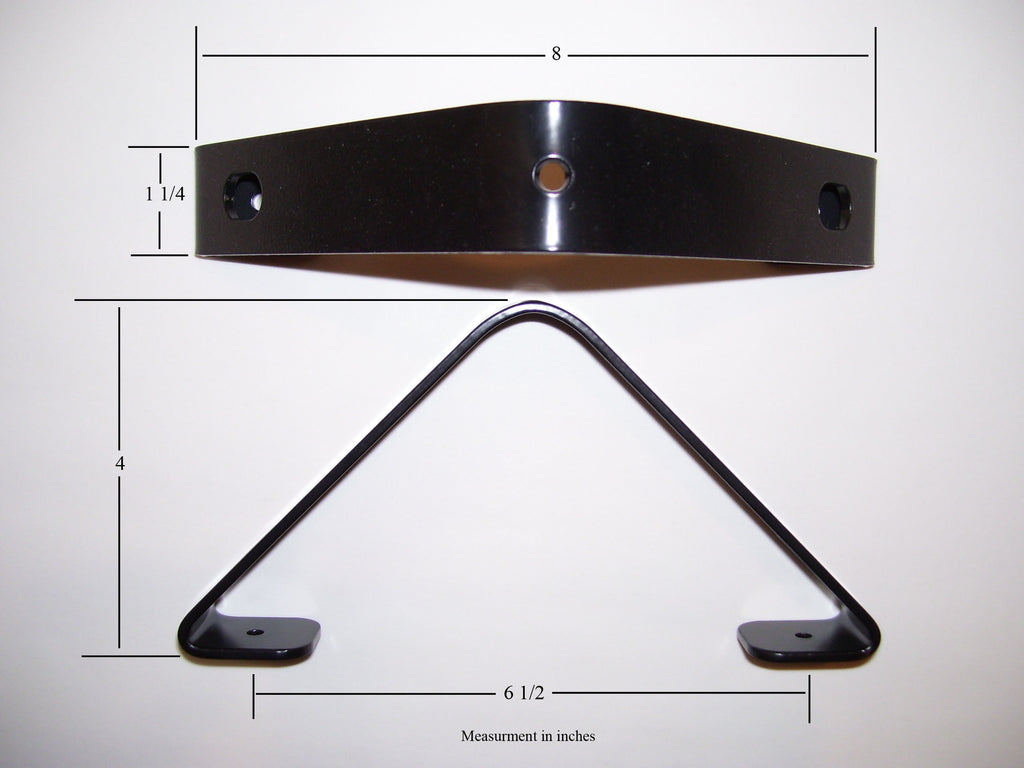 Closet Rod Bracket holder angled ceiling - dimensions