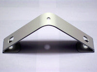 White Closet Rod Bracket for angled (sloped) ceiling