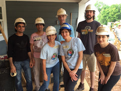 Rivanna volunteers for Habitat on 2015 B Corp Day of Service