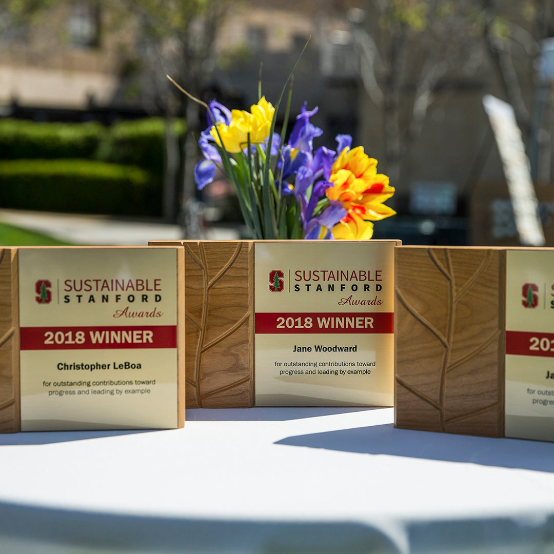 Sustainable Stanford awards by Rivanna Designs