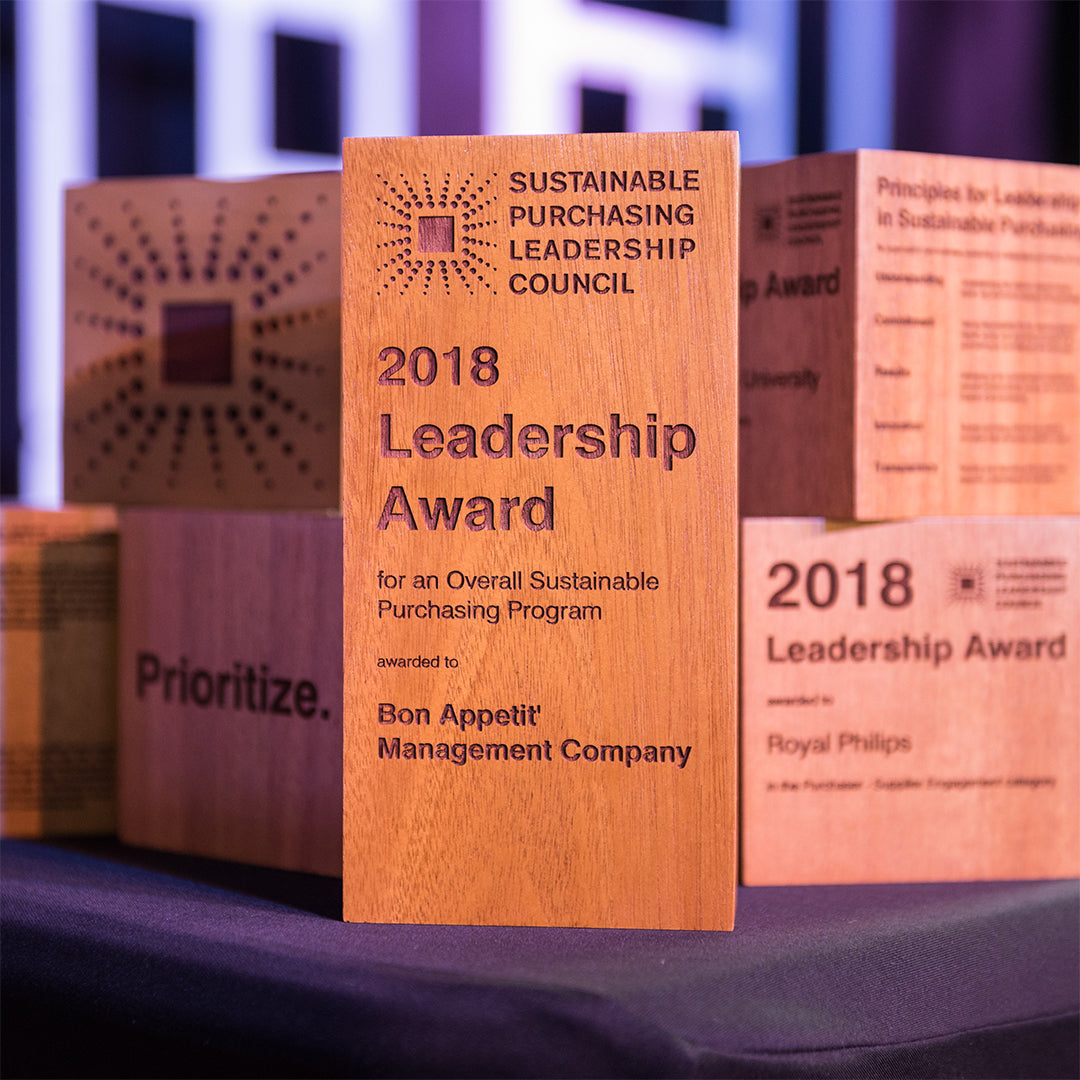 Sustainable Purchasing Leadership Awards 2018 by Rivanna Designs