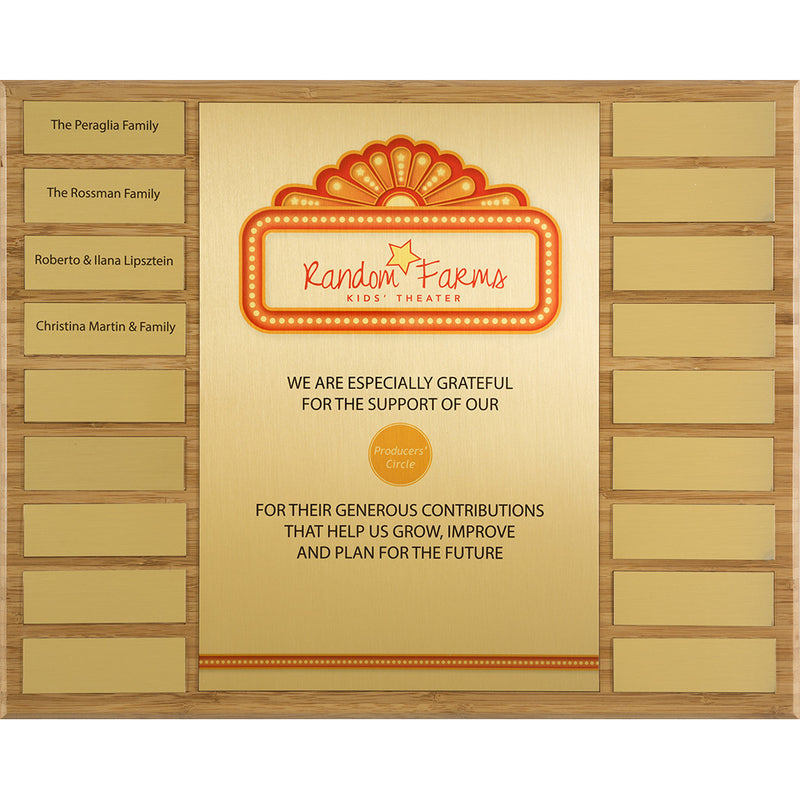 Heng #1 Perpetual Plaque Bamboo l Eco friendly perpetual plaque