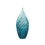 Water Artisan Glass Award Small l  engraved teal art glass trophy