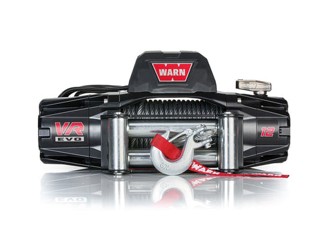 VR EVO 12 - WARN WINCH - 12,000 LB - ROLLER FAIRLEAD, WIRE ROPE
