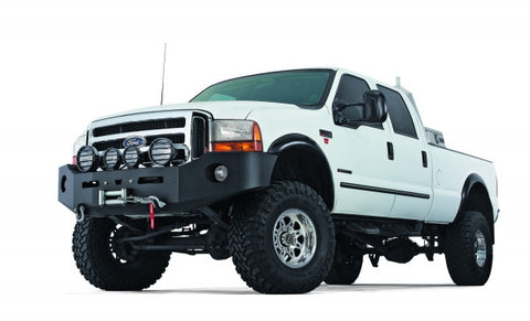 Heavy Duty Bumper - Black - w/o Brush Guard - For Use w/All Warn Large Frame Winches Including 16.5ti M15 M12