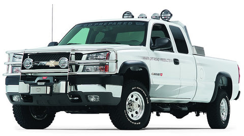 Trans4mer - Brush Guard - For Use w/Trans4mer Grille Guard - Three Bar Wrap Around - Stainless