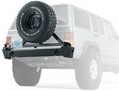 XJ - Rear Bumper - Will Accept Tire Carrier