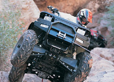 ATV Front Bumper - Req. Warn Winch Mnt To Install Bumper - Does Not Accommodate Warn Trl Lights - Lights May Be Mnt To Front Rack - Not Compatible w/Warn Multi Mnt Kit
