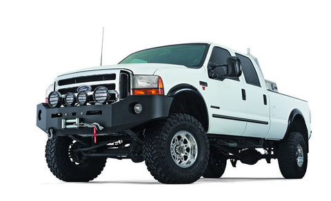 Heavy Duty Bumper - Black - w/o Brush Guard - For Use w/All Warn Large Frame Winches Including 16.5ti