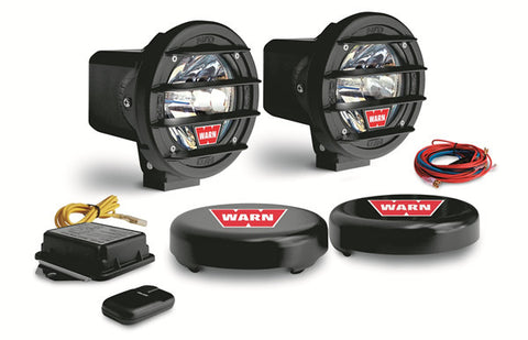 W400D H.I.D. Driving Light - Incl. Two Lights - Mounting Hardware - Wireless Control - Transmitter - Wiring - Rock Guards And Covers