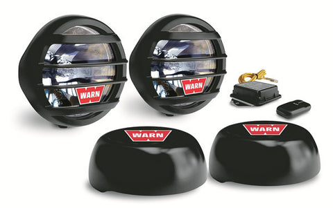 W650D Halogen Driving Light - Incl. Two Lights - Mounting Hardware - Wireless Control - Transmitter - Wiring - Rock Guards And Covers