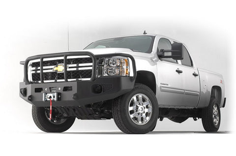 Heavy Duty Bumper - Black - w/Brush Guard - For Use w/All Warn Large Frame Winches Including 16.5ti M15 M12