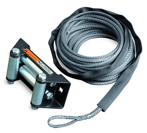 Synthetic Rope Replacement Kit - 7/32 in. x 50 ft. - For Winch Model 4.0ci - Incl. Synthetic Rope/Rock Guard Sleeve/Polished Finish_ALUMINUMinum Hawse Fairlead