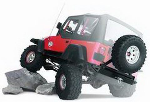 Rock Crawler - Rear Bumper - Will Accept Tire Carrier - Some Veh. May Req. Additional Spacers To Fit Bumper