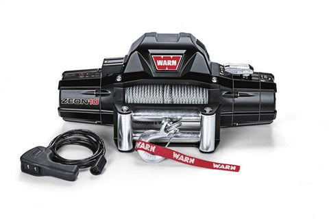 ZEON 10 - Warn Winch - 10000 lb. W/Roller Fairlead, Wire Rope