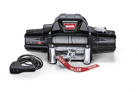 ZEON 8 Warn Winch - 8000 lb.W/Roller Fairlead, Wire Rope