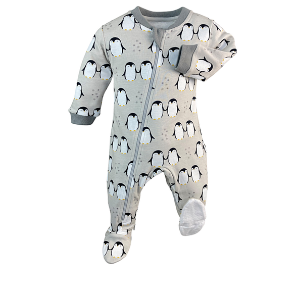 Little Emperor - Babysuit - Footed Gray