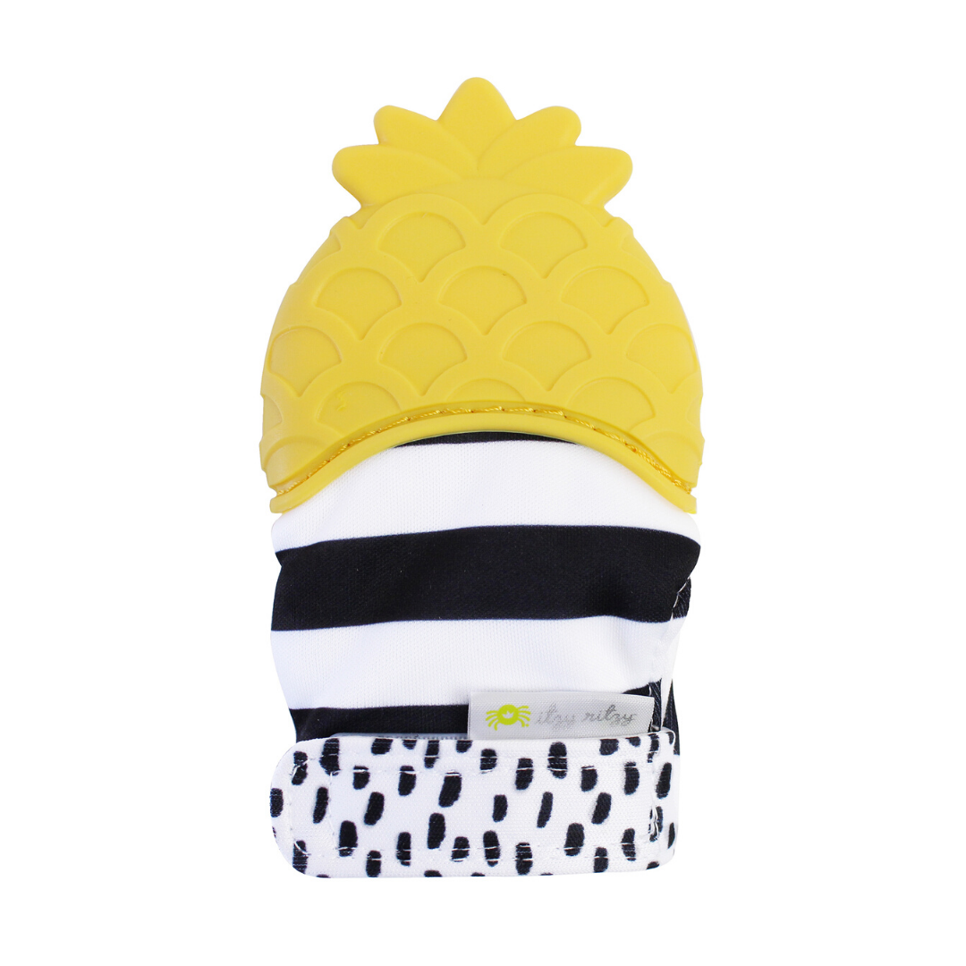 Itzy Mitt Silicone Teething Mitt - Pineapple