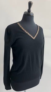 Beaded V-Neck Sweater