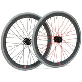 retrospecbicycles.com - Mantra Wheelset with Kenda Kwest Tires Gray with Red Spokes, Retrospec Bicycles - 4
