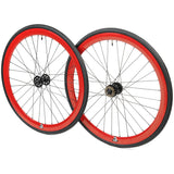 retrospecbicycles.com - Mantra Wheelset with Kenda Kwest Tires Red, Retrospec Bicycles - 10