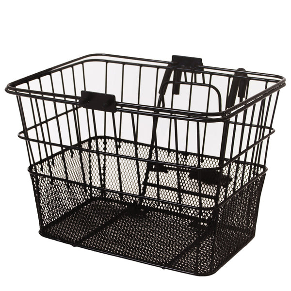 retrospecbicycles.com - Apollo Steel/Mesh Bike Basket Black, Retrospec Bicycles - 1