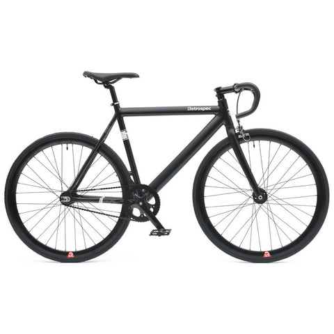 retrospecbicycles.com - Drome Track Urban Commuter Bike 49cm / Matte Black, Retrospec Bicycles - 1