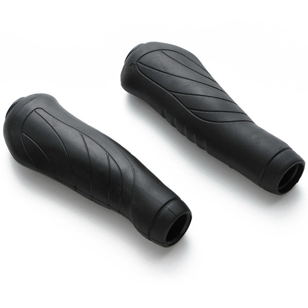 retrospecbicycles.com - Ergonomic Bicycle Grips Black, Retrospec Bicycles - 1