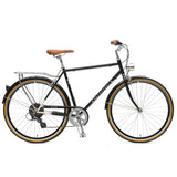 Retrospec Bicycles - Mars-7 Diamond Seven-Speed City Bike Black / 50cm, Retrospec Bicycles - 1