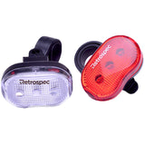 retrospecbicycles.com - Venice Bike Headlight and Taillight Set Combo, Retrospec Bicycles - 1