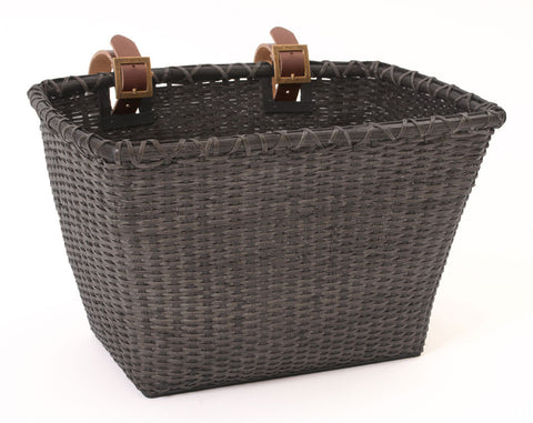 retrospecbicycles.com - Toto Handwoven Cane Basket Black, Retrospec Bicycles - 1