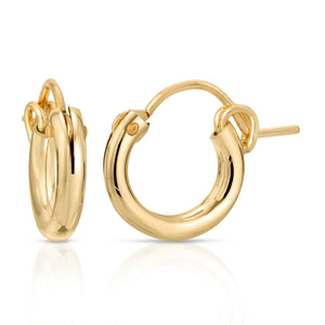 Virgan Gold Ear hoop with lock