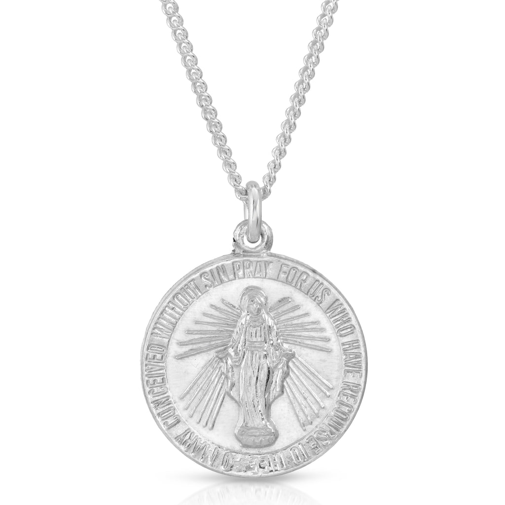 VIRGAN MARIA SILVER NECKLACE